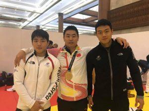 2018년 자카르타-팔렘방 아시안게임에서 재회한 2016년 리우 올림픽 한국 국가대표 지도자 당시 담당 지도했던 자랑스러운 곽동한 선수와 안창림 선수와 함께