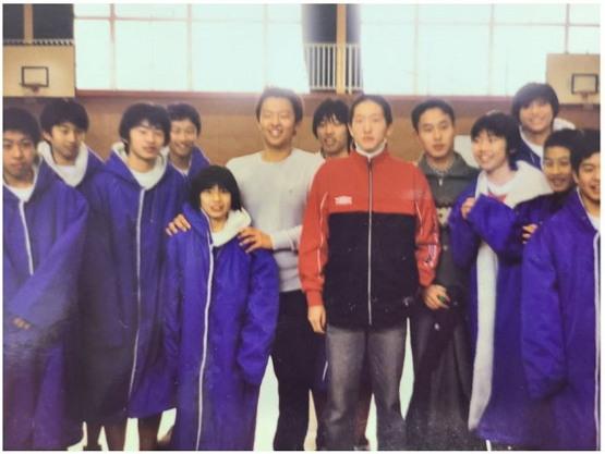 중학교 시절 일본 현지 체육부 견학