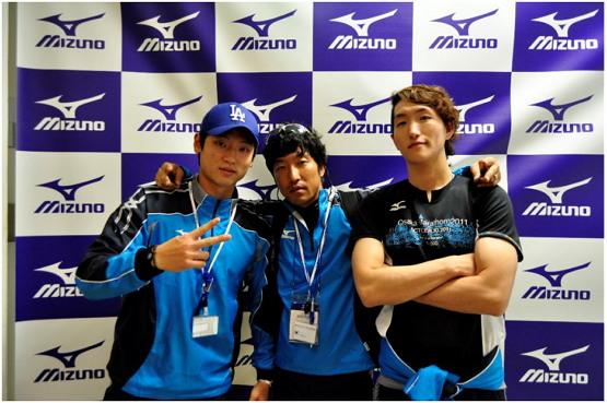 학부 시절 미즈노 오사카마라톤 대회에 참가했다.