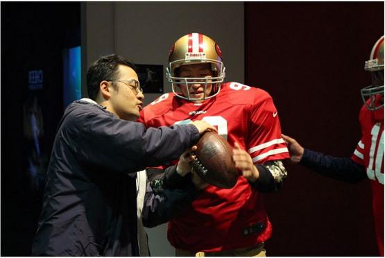 2019년 스포츠 산업연수 당시 SF 49ers 뮤지엄에서 동료 박사과정 선생님과 함께