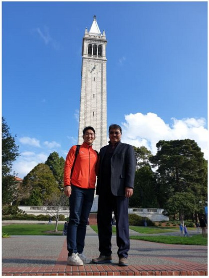 2019년 UC버클리 대학에서 스포츠 산업연수 당시 Russel Ahn 교수와. 스포츠가 문화로서 정착되고 Sport For All이 자리 잡은 미국 스포츠 시설 및 교육기관을 방문한 것은 굉장히 좋은 경험이었다.