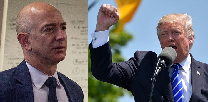 트럼프의 개입? 아마존과 국방부의 부적절한 관계? (출처: 제프 베조스 2016년 당시 모습, 국방부, CC BY)