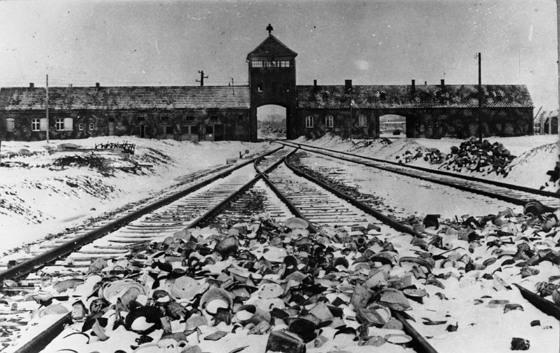 나치 독일의 아우슈비츠-비르케나우 수용소 (1945년 1월 찍음) (위키미디어 공용)