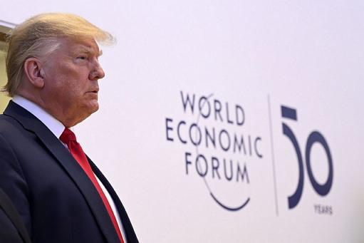 2020년 1월 다보스포럼에 참석한 트럼프 미 대통령 (출처: World Economic Forum, CC BY NC SA) https://flic.kr/p/2ihY1dk