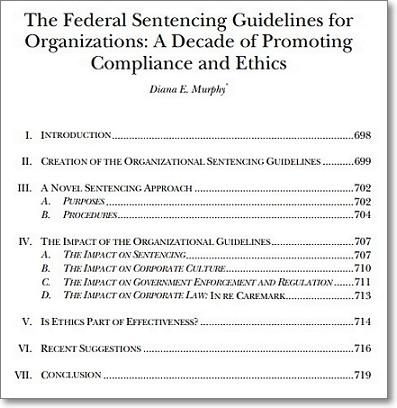 미국 연방 조직 양형 가이드라인 https://www.ussc.gov/sites/default/files/pdf/training/organizational-guidelines/selected-articles/Murphy1.pdf