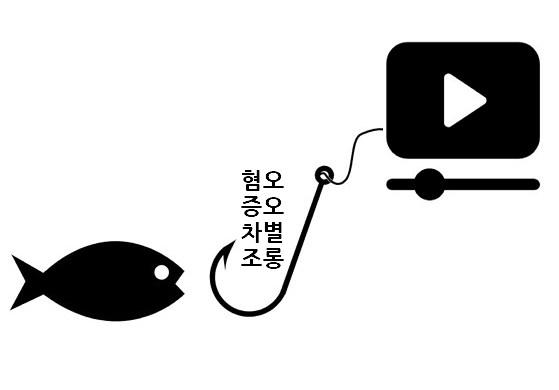 혐오와 차별이 돈이 되는 혐오의 비즈니스화가 유튜브에선 흔하게 벌어진다.