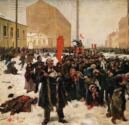 러시아 혁명(1917)을 이끈 핵심 사건 중 하나로 평가받는 '피의 일요일' 사건(1095). 황제 니콜라이 2세에게 청원하기 위해 모인 노동자들은 제정 러시아의 군인과 경찰에 의해 진압됐고, 이 과정에서 500명이 넘는 사람들이 숨졌다.