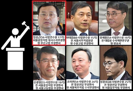 사법농단 혐의로 재판 중인 판사들