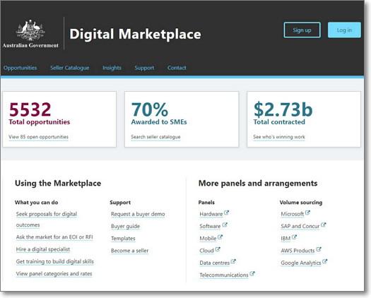 호주 정부 디지털 마켓플레이스 (https://marketplace.service.gov.au/)
