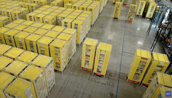 아마존의 자동화된 물류 창고 관리 시스템 (출처: nova) https://www.youtube.com/watch?v=HSA5Bq-1fU4